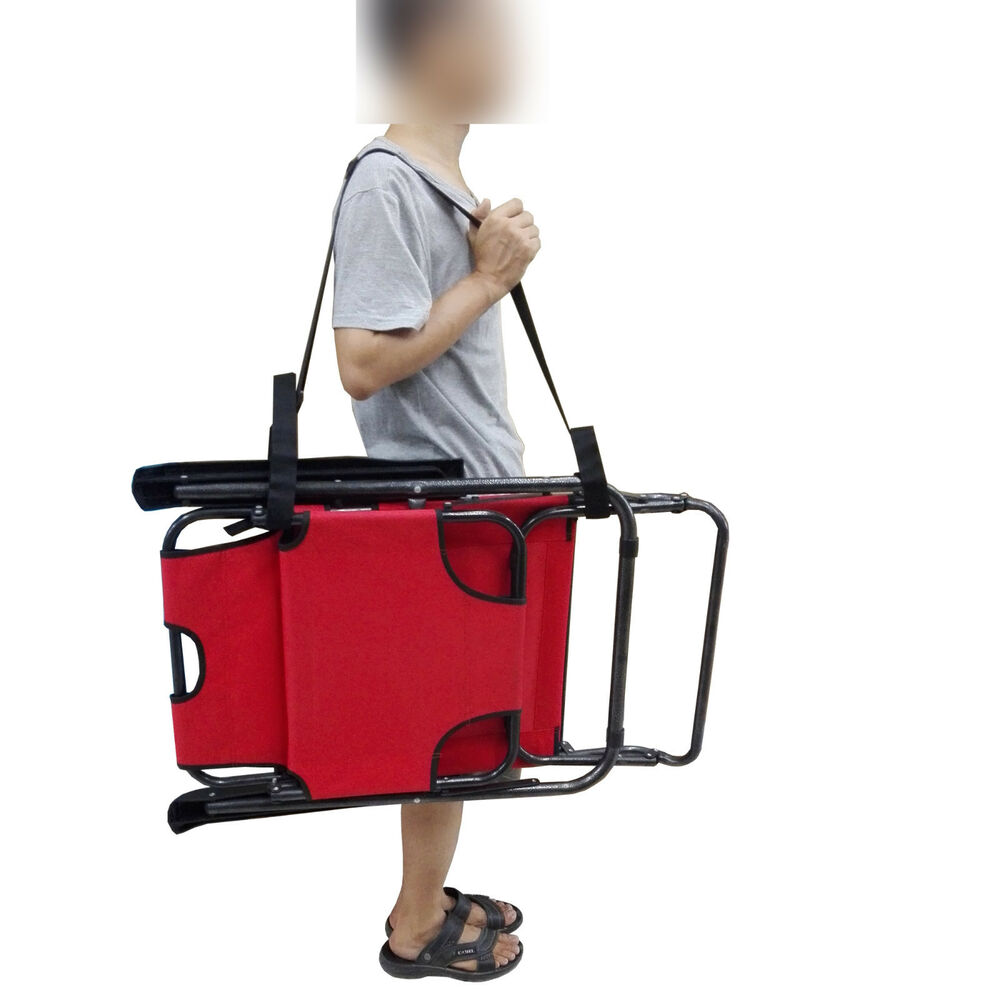 portable beach chair with umbrella used chairs for sale shoulder strap carry folding carrier bed   ebay
