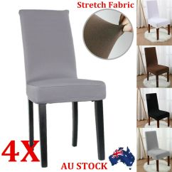 Elastic Kitchen Chair Covers X Rocker Pro Series Pedestal Wireless Game Stretch Removable Dining Cover Washable Slipcover Dinning 2/4/6/8pcs   Ebay