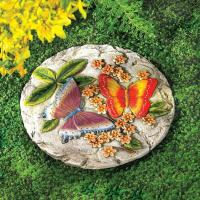 SET OF 6 BUTTERFLY CEMENT STEPPING STONE YARD GARDEN PATIO ...
