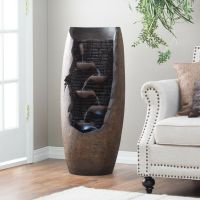 Lighted Water Fountain Outdoor Indoor Office Home Decor ...