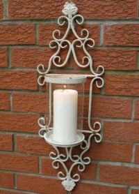 French Shabby Chic Wall Sconce Candle Holder Antique ...