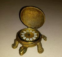 Vintage Brass Gruber West Germany Emerald eyes Turtle Desk ...