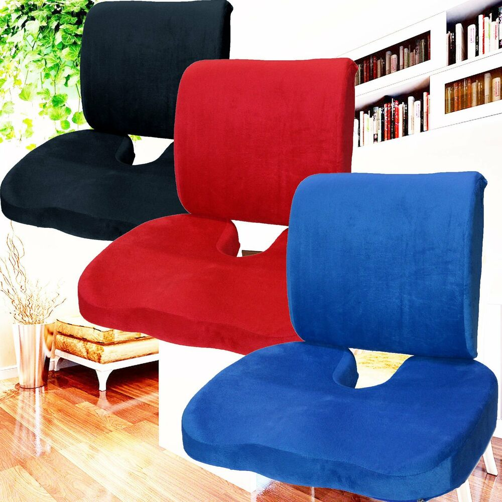 office chair seat cushion wedding covers dublin memory foam coccyx orthoped back support lumbar pain relief pillow~ | ebay