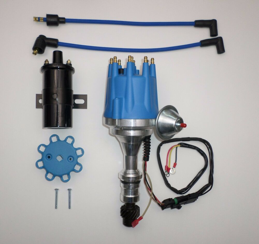 hight resolution of small cap oldsmobile 350 400 403 455 pro series blue hei distributor black coil ebay