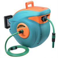 30m 100Ft Auto Rewind Garden Water Hose Reel Retractable