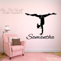 Personalized Name & Girl Gymnast Vinyl Wall Decal Sticker ...