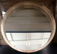 LARGE Modern Rustic Chunky Natural Round Wall Mirror NEW ...