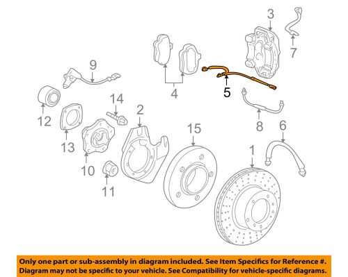 small resolution of details about porsche oem 06 12 911 disc brake pad electronic wear sensor 99761268000
