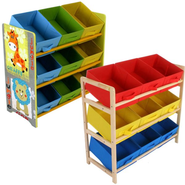 Kids Storage Shelves with Bins for Toys