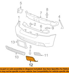 chevrolet gm oem 06 09 trailblazer front bumper insert panel left chevy trailblazer front bumper parts trailblazer front bumper diagram [ 1000 x 798 Pixel ]