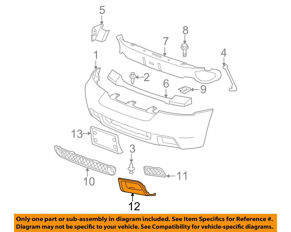 medium resolution of chevrolet gm oem 06 09 trailblazer front bumper insert panel left chevy trailblazer front bumper parts trailblazer front bumper diagram