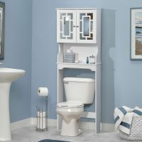 Bathroom Space Saver Cabinet Over The Toilet White Wood