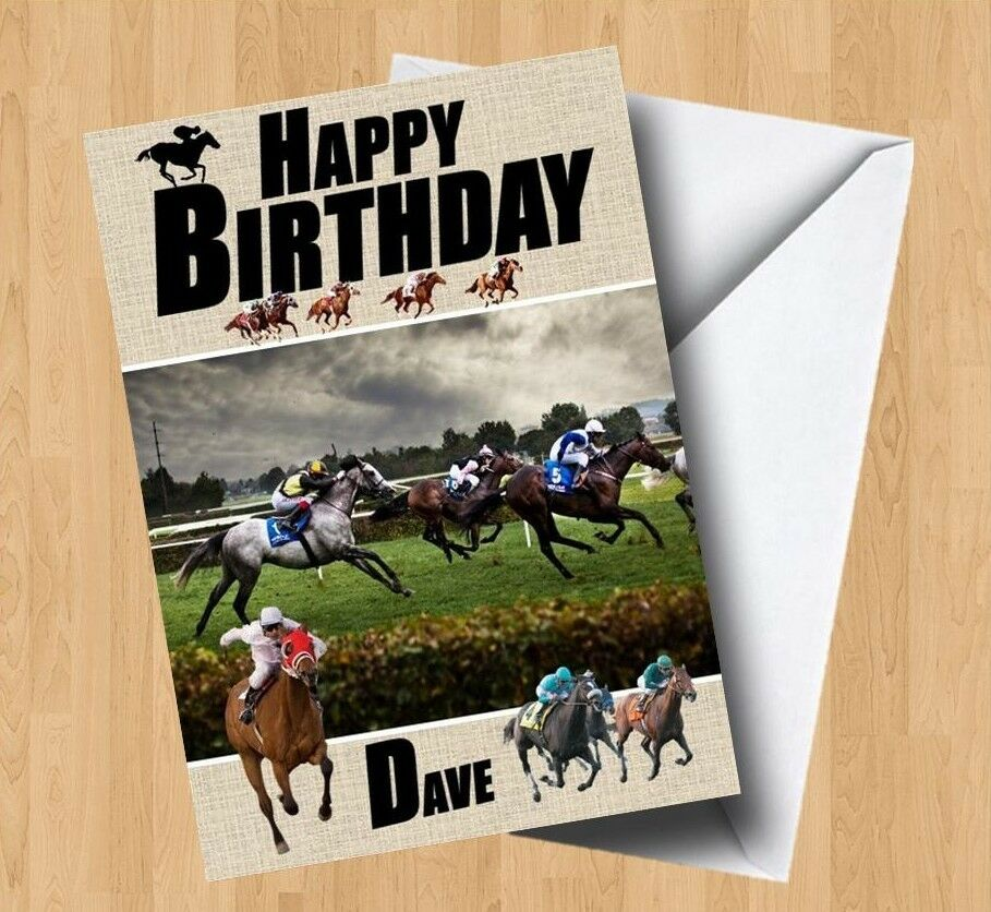 Personalised Horse Racing Birthday Card EBay