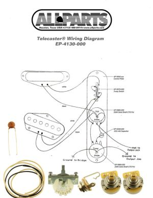 WIRING KITFENDER® TELECASTER TELE Complete with Schematic Diagram USA Parts 645208036675 | eBay