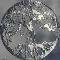 Tree of Life Metal Wall Art Home Decor Polished Silver | eBay