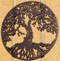 Tree of Life Metal Wall Art Home Decor Copper Vein