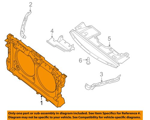 small resolution of details about nissan oem 07 08 altima radiator core support bracket panel 62500ja000