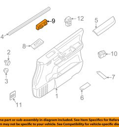 details about nissan oem 09 15 armada front door window switch 25401zw00a [ 1000 x 798 Pixel ]