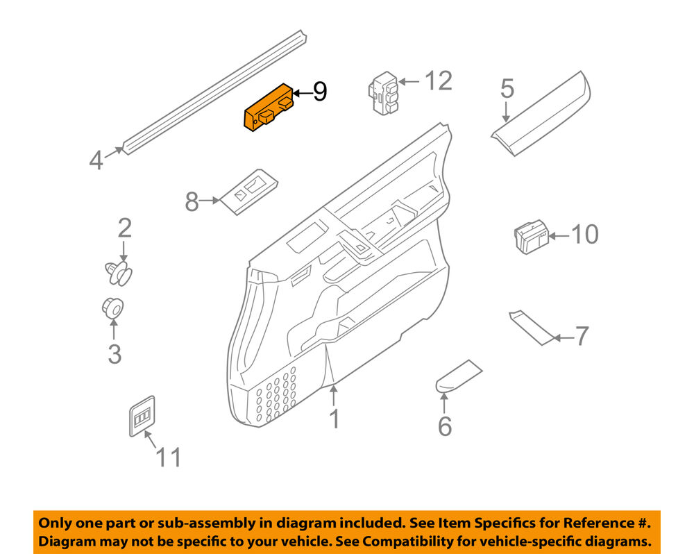 medium resolution of details about nissan oem 09 15 armada front door window switch 25401zw00a