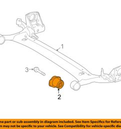 details about toyota oem 12 13 corolla rear suspension axle beam bushing 4872502250 [ 1000 x 798 Pixel ]