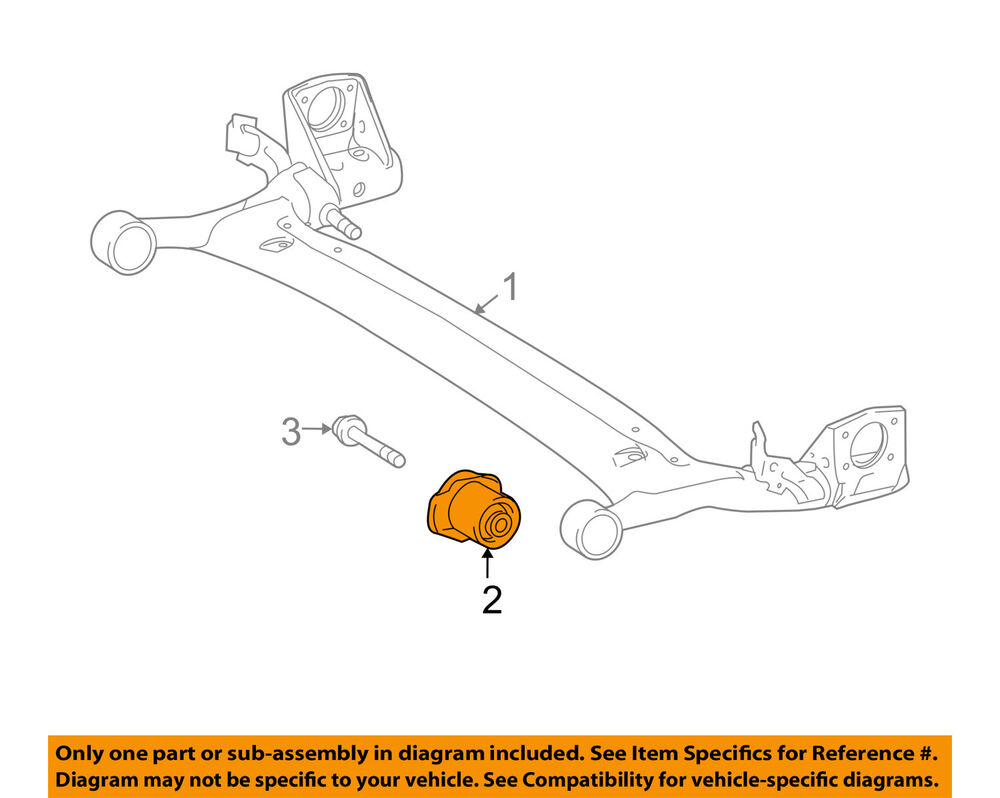 hight resolution of details about toyota oem 12 13 corolla rear suspension axle beam bushing 4872502250