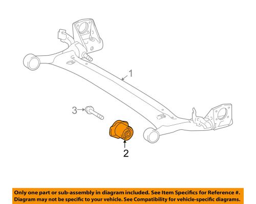 small resolution of details about toyota oem 12 13 corolla rear suspension axle beam bushing 4872502250