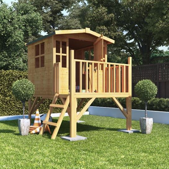 Childrens Wooden Playhouse Treehouse Tower Outdoor Play
