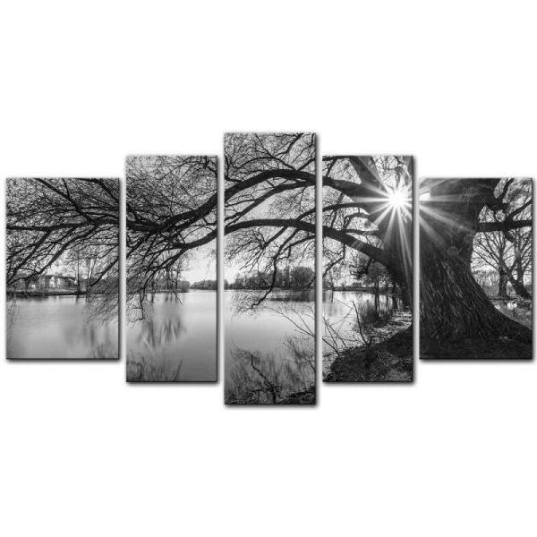Wall Art Canvas Prints Black And White Tree
