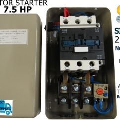 Dol Starter Circuit Diagram 120 277v Ballast Wiring Magnetic 7.5 Hp Motor Control Single Phase 220/240v 30-40a On/off Switch | Ebay
