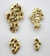 Authentic 10k Solid Yellow Gold Nugget Stud Earrings Men