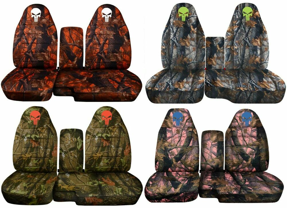 91 15 Ford Ranger 60 40 Camouflage Seat Covers Skull
