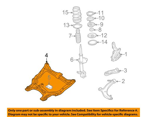 small resolution of details about nissan oem 05 06 altima front suspension engine cradle 544007y102