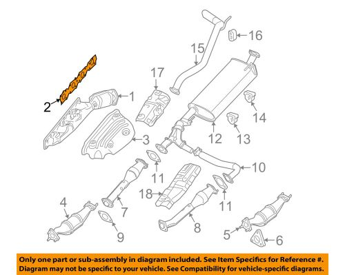 small resolution of details about nissan oem exhaust manifold gasket 14036ea200