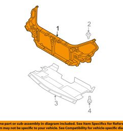 details about nissan oem 05 06 altima radiator core support support assembly 62500zb610 [ 1000 x 798 Pixel ]