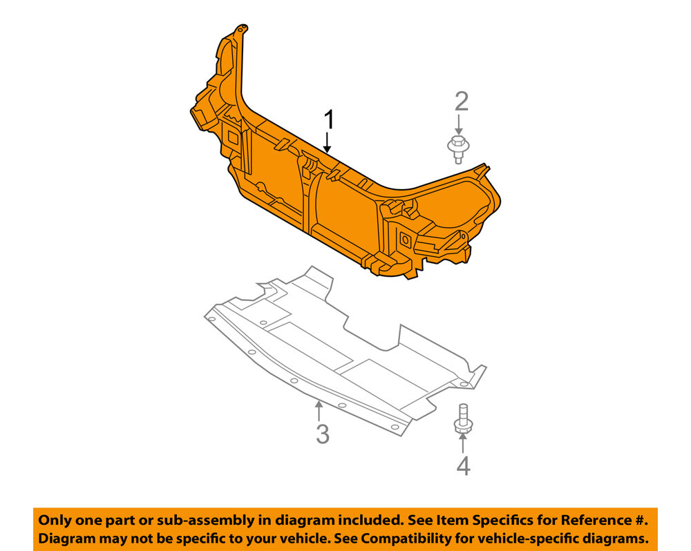 medium resolution of details about nissan oem 05 06 altima radiator core support support assembly 62500zb610