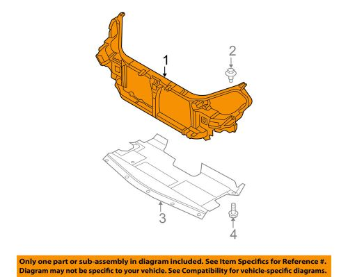 small resolution of details about nissan oem 05 06 altima radiator core support support assembly 62500zb610