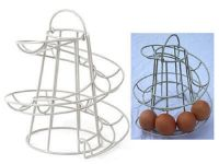 NEW HELTER SKELTER SPIRAL EGG HOLDER HOLDS 18 EGGS SWIRL