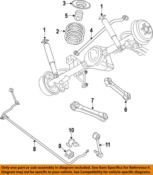 small resolution of details about jeep chrysler oem 07 15 wrangler stabilizer sway bar rear link 52060011ab