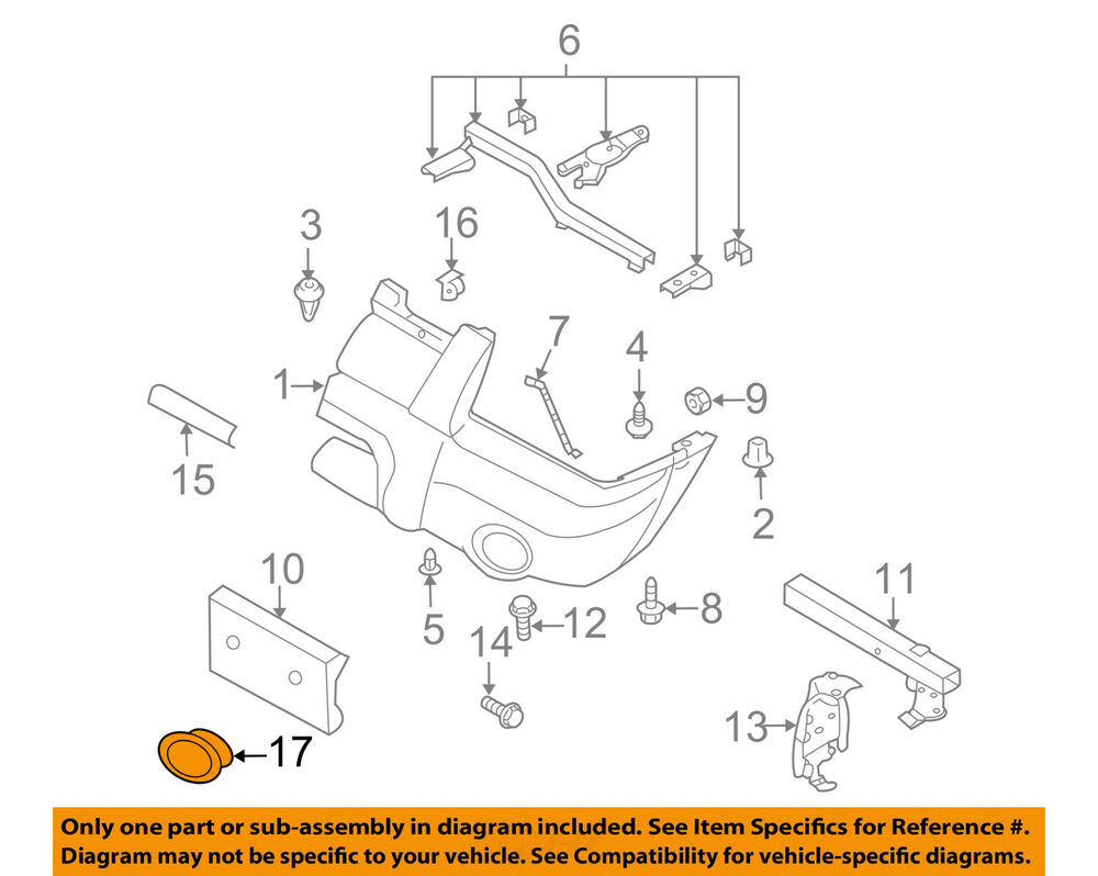 hight resolution of details about nissan oem 01 04 frontier bumper cover left 622574z040