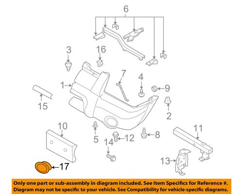 small resolution of details about nissan oem 01 04 frontier bumper cover left 622574z040