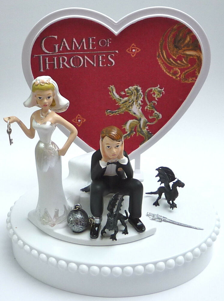 Wedding Cake Topper Game of Thrones Themed Ball and Chain