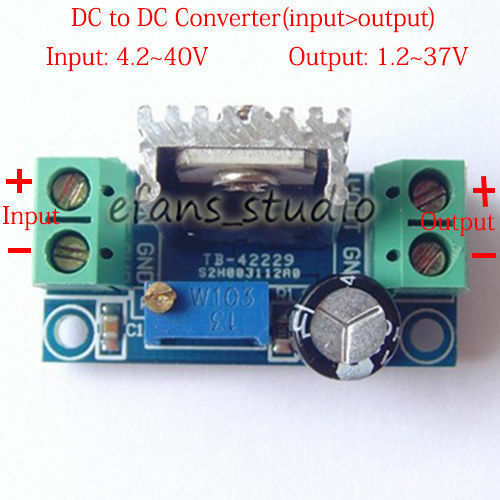 12v Battery To 5v 1500ma Dc Converter Regulator