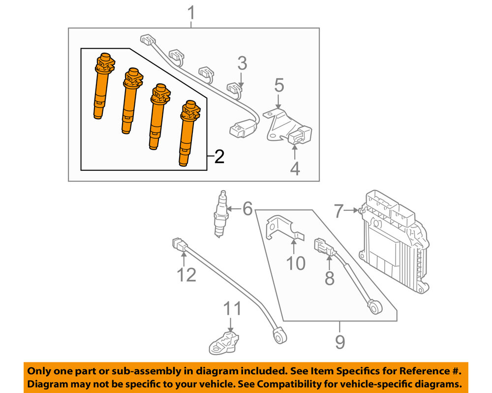 medium resolution of details about kia oem 06 11 rio ignition coil 2730126640