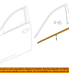 details about cadillac gm oem cts door window sweep belt molding weatherstrip left 23296750 [ 1000 x 798 Pixel ]