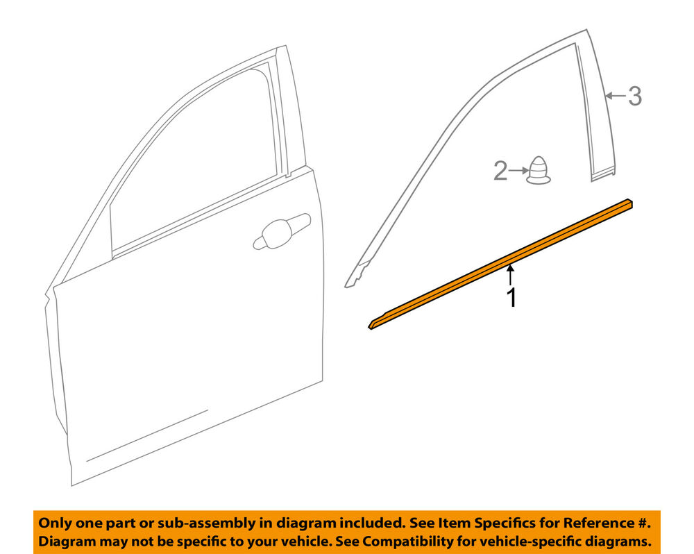 hight resolution of details about cadillac gm oem cts door window sweep belt molding weatherstrip left 23296750