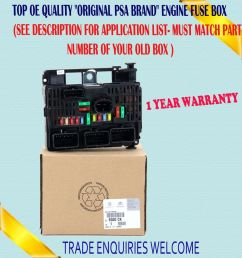 fits citroen c4 c5 c8 dispatch central electronic control engine fuse box ebay [ 944 x 1000 Pixel ]