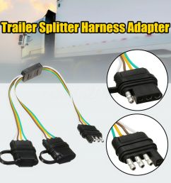 details about trailer splitter harness adapter 2 way 4pin y split for tailgate light bars led [ 1000 x 1000 Pixel ]