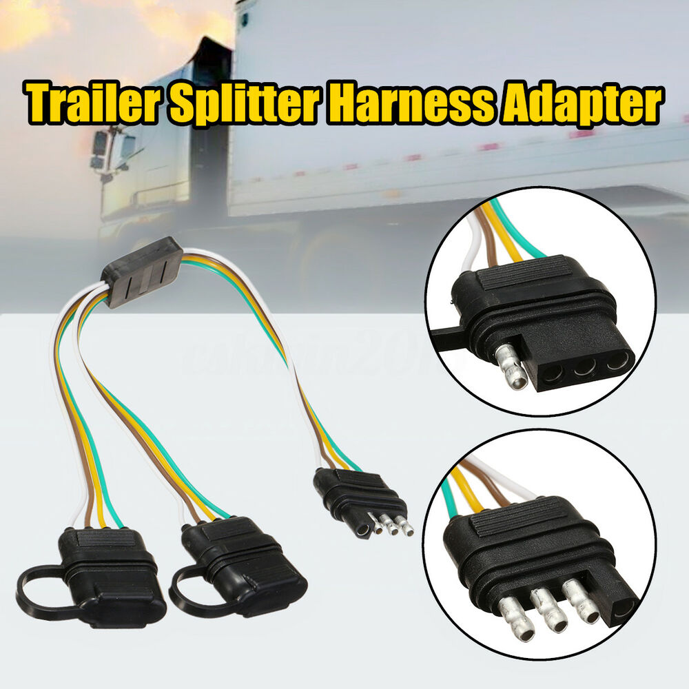 hight resolution of details about trailer splitter harness adapter 2 way 4pin y split for tailgate light bars led