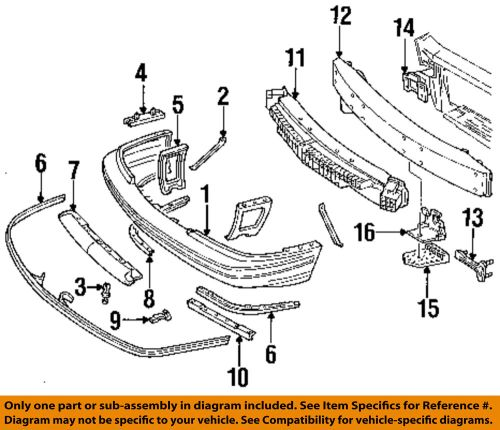 small resolution of details about chevrolet gm oem 90 94 lumina front bumper bumper cover brace left 10082533