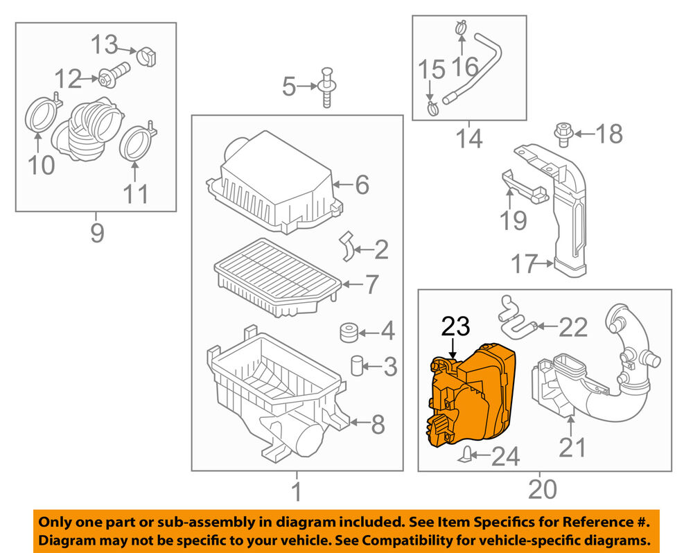 hight resolution of details about kia oem 12 15 rio air cleaner intake resonator duct tube hose 282141w100